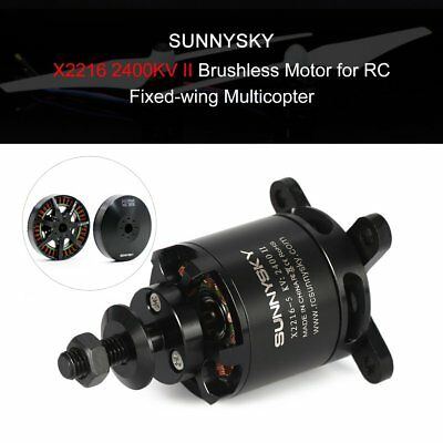 SUNNYSKY X2216 2400KV II 2-4S Brushless Motor for RC Fixed-wing Airplane QA
