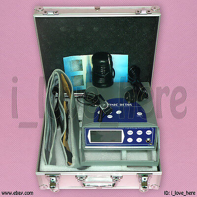 Updated Detox Ionic Aqua Foot Bath Spa Ion Cell Cleanse Machine Fir Belt 5 Modes