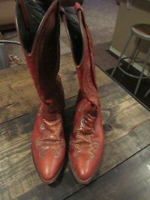 5400b1e06f6 VINTAGE J CHISHOLM Exotic Leather Cowboy Mens Rancher Western Boots Size 9D