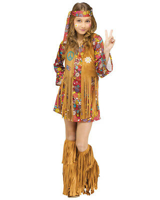 Peace And Love Hippie Girls Costume