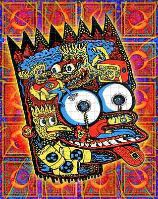 BART SIMPSON - 500hits blotter art - psychedelic goa acid artwork