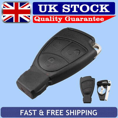 3 Button Remote Key Case Fob + Blade For MERCEDES BENZ R C E S ML CL CLK CLS SLK