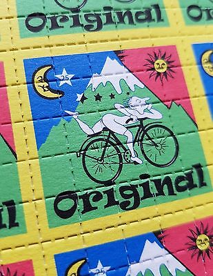 ORIGINAL Albert Hofmann Bike Ride - double sided blotter art - psychedelic