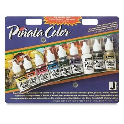 Jacquard 'PINATA COLOR' Exciter Pack Alcohol Ink - Set of 9 Colours - 14ml each