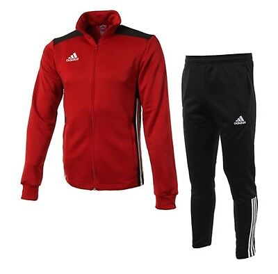 Adidas Youth REGISTA 18 Training Suit Set Soccer Red Kid Shirts Pants CZ8633