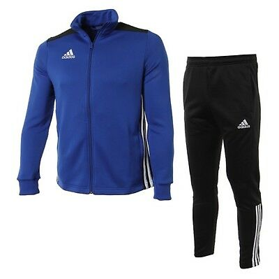 Adidas Youth REGISTA 18 Training Suit Set Soccer Blue Kid Shirts Pants CZ8631