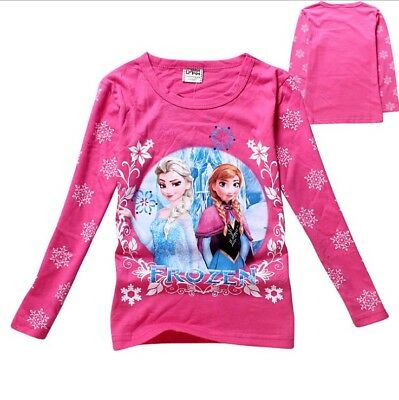 Girls T-shirt Long sleeves Top Frozen Princess Elsa and Anna Cotton 2-7 years