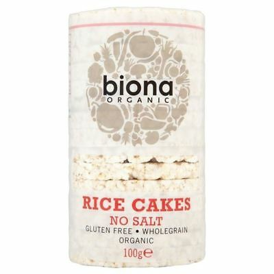 Biona Organic Rice Cakes No Salt 100g (Pack of 2)