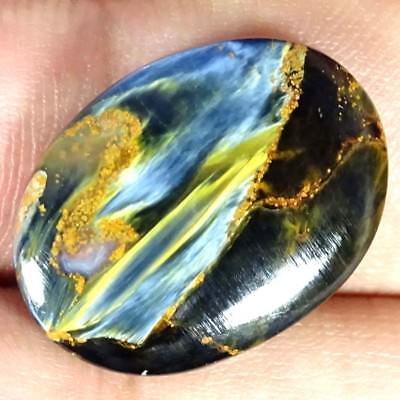 12.90Cts 100%Natural Chatoyant Pietersite Oval Cabochon Super Loose Gemstone
