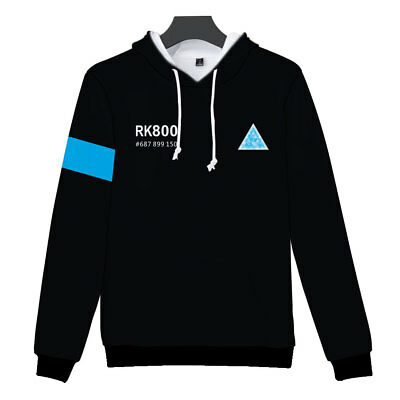 Detroit: Become Human Print Hoodie Unisex Jumper Sweatshirt Pullover Outwear UK