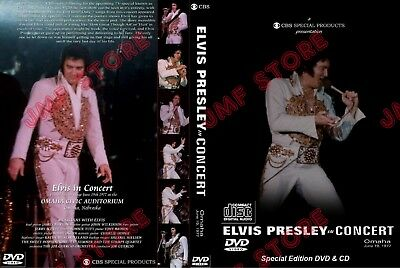 Elvis Presley In Concert On Tv Omaha Entire Show Remastered Dvd+Cd