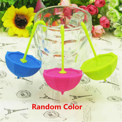 1x Umbrella Tea Leaf Strainer Herbal Spice Infuser Filter Diffuser Kitchen Tool