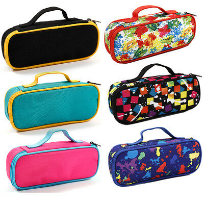 AU Stock Pencil Case School Supplies Canvas Cosmetic Pouch Stationery Zip Bag