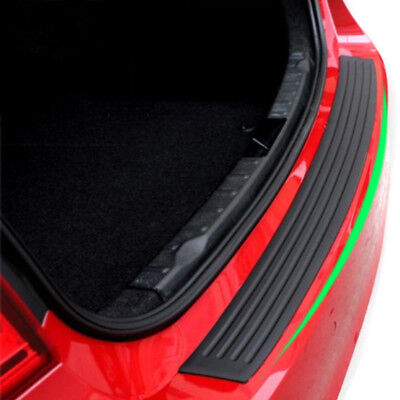 Car Rear Bumper Deck Sill Protector Plate Rubber Cover Tailgate Back Door Guard