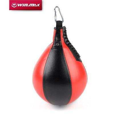 Boxing Pear Shape Speed Ball Swivel Punch Bag Punching Exercise Bag Faux Leather