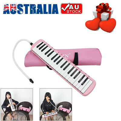 37 Piano Keys Melodica Pianica Musical Instrument Pink with Bag for Student