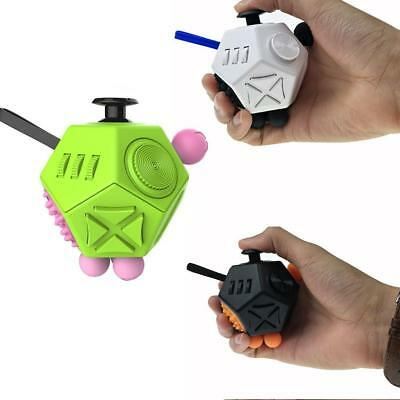12-Side Fidget Cube Anti-irritable Anxiety Puzzle Decompression Desk Toy Gift GO