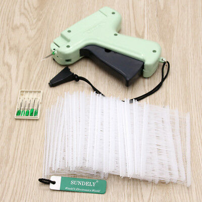 Plastic Tagging Lable Gun + 5 Steel Needles Kimble Tag System Barbs For Clothes