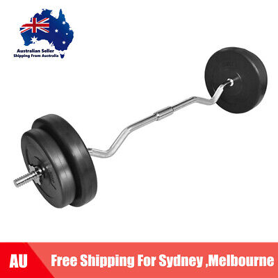Curl Bar With Weights 30kg Dumbell Kettlebell Weight Plates Weight Bar Gym W5N8