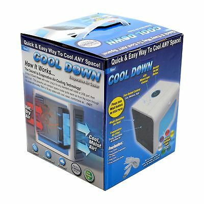 Air Cooler Portable Mini USB Fan 3in1 Conditioner Humidifier Personal Travel