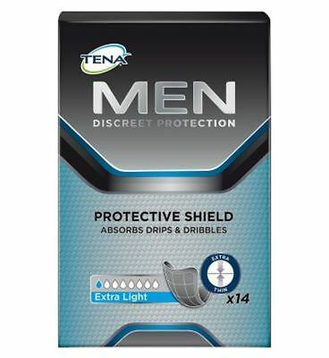 Tena Men Discreet Protection Protective Shield Extra Light - 14 Pack (Pack of 2)