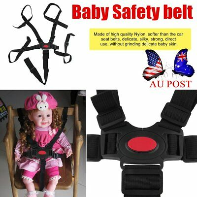 5 Point Harness Stroller High Chair Pram Buggy Car Safe Belt Strap Baby PM