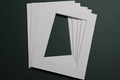Pack of 10 Picture Frame Mounts 8 x 6 inch for 6 x 4 Photograph Textured White