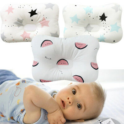 Cotton Baby Pillow Prevent Flat Head Cushion Anti Roll Pillow For Newborn Infant