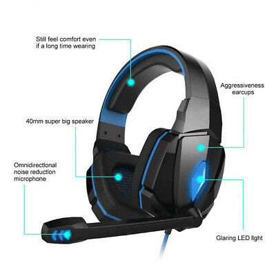 G4000 Gaming Wired Headset Gamer Bass Stereo Headphone with Microphone For PS4