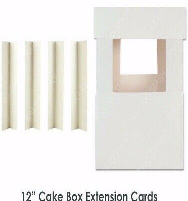 "Cake Box Corner Extension  Cards * Large Size * £12.77 for 100 x 12""/31cm high *"