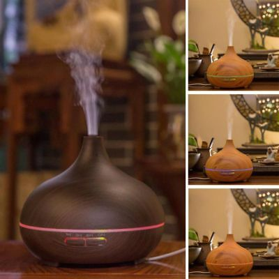 UK Essential Oil Diffuser LED Aroma Diffuser Steam Electric Ultrasonic Cool Mist