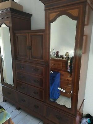 Large mahogany antique wardrobe