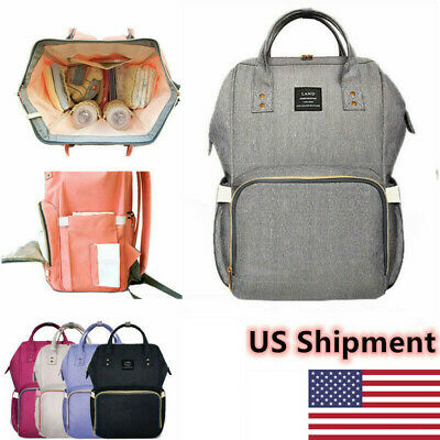 LAND Nappy Diaper Mummy Bag Multifunctional Large Changing waterproof Backpack