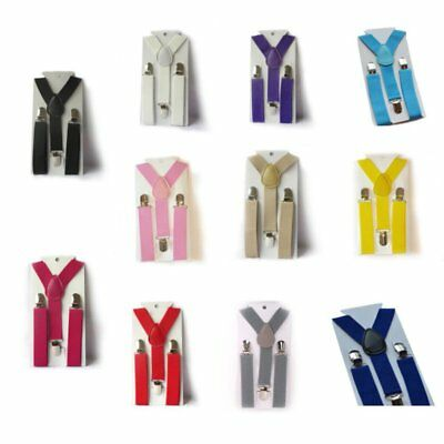 UK Elastic Adjustable Kids Child Boys Girls Suspenders Braces Vogue Baby Straps