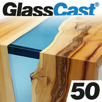 GlassCast® 50 River Table Resin, Furniture Infills, Clear Casting, Glass Cast