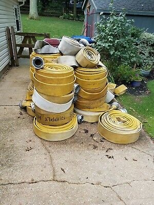 """4"""" Diameter x 100 ft Used Fire hose Lot of 10"""