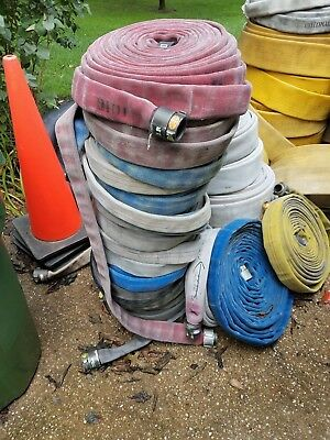 """1 1/2"""" Diameter x 50 ft Used Fire hose Lot of 10"""