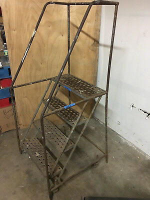 "4 Step 38"" Tall Rolling Ladder"