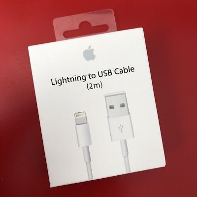 2M Lightning to USB Data Sync Charger Cable Lead for Apple iPhone 6 7 8 X iPod