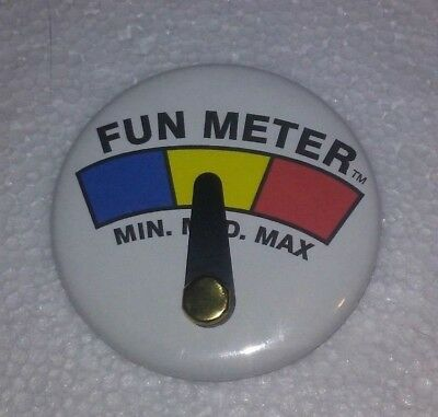 Fun Meter Button Pin adjustable Pointer 2.25""