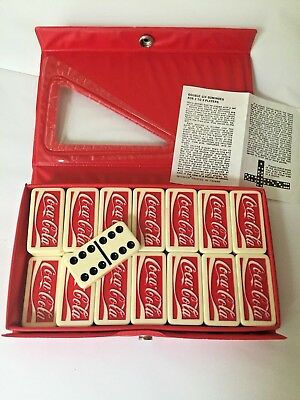 Coca Cola Dominoes Vintage Double Six Professional Snap Case Directions Taiwan