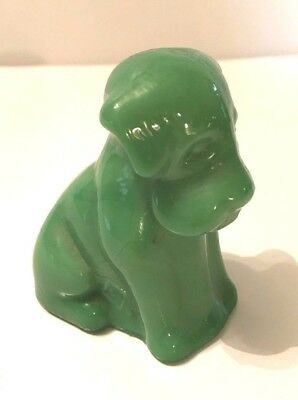 Wintergreen Jade ? POOCHE the DOG Pup Boyd's  Art Glass