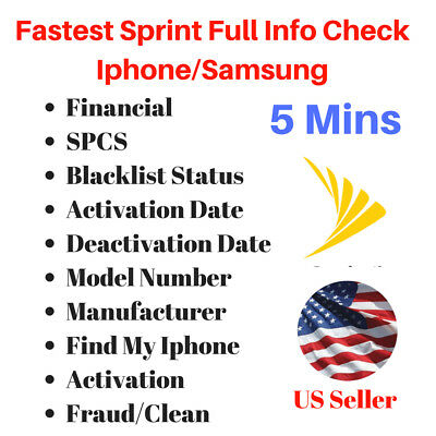 Fastest IMEI Sprint Check iPhone Unpaid Blacklist Finance SPCS ESN Info