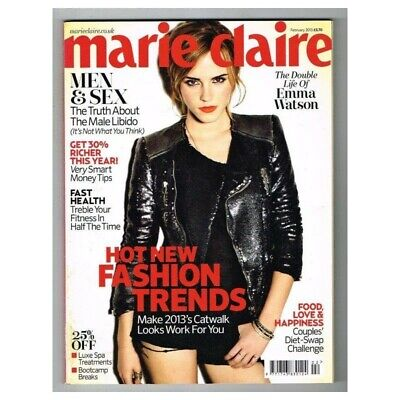 Marie Claire Magazine February 2013 MBox3412/F The Double Life Of Emma Watson