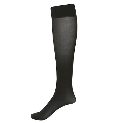 2 Pair Mild Compression Knee High Stockings - Wide Calf