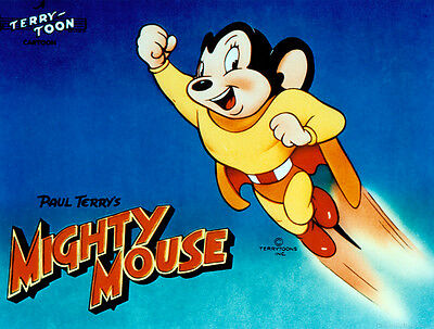 "Imán ""Super Raton, Mighty Mouse"". Diferentes Medidas, desde 2€"