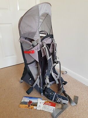 bfdf6578a12 Osprey Poco Plus baby carrier with Rain Cover - Grey Black - Good Condition