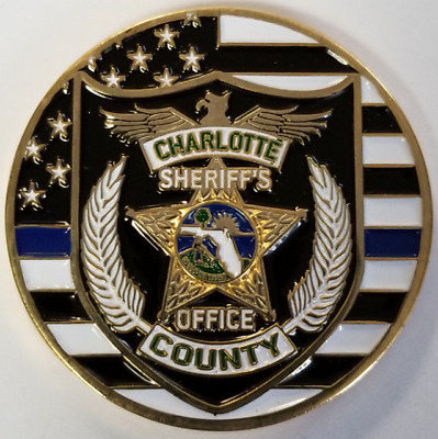 "Charlotte County Florida Sheriff's Office 1.75"" Challenge Coin Deputy"
