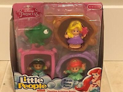 FISHER PRICE LITTLE People Disney Princess NEW Floating Boats ...