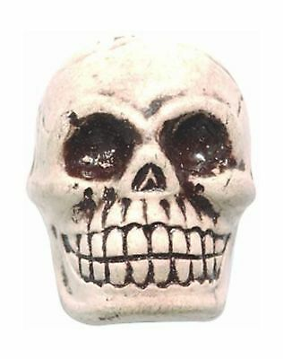 Shipwreck Beads 20 by 27mm Peruvian Hand Crafted Ceramic Skull Beads, White, ...